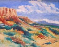 "Desert View at Ghost Ranch, 18 x 24"", $250.00"